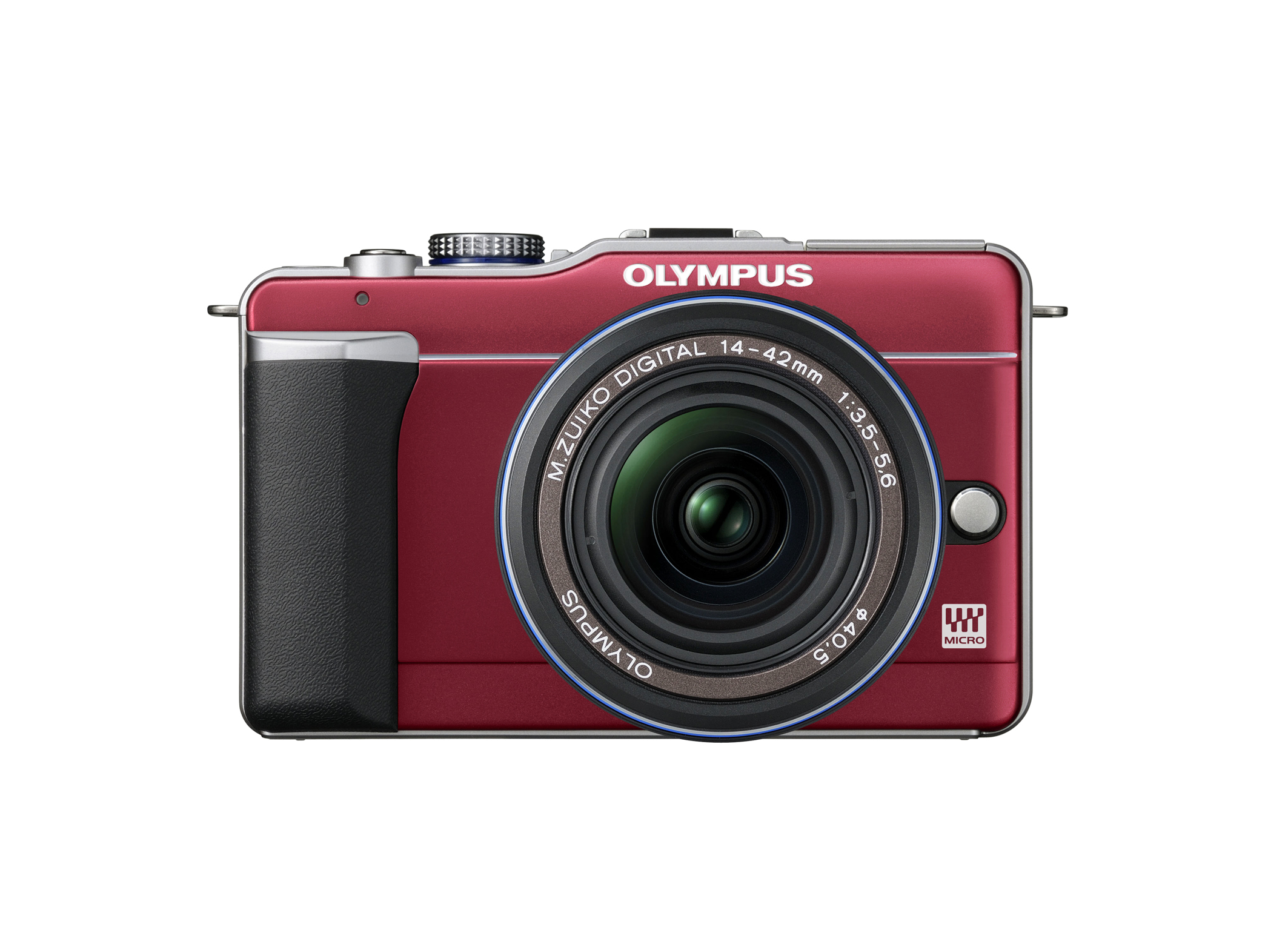 Olym E-PL1 Red with MZD 14-42mmBlk front