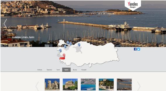 Türkiye'nin güzellikleri Yandex Gezgin'de