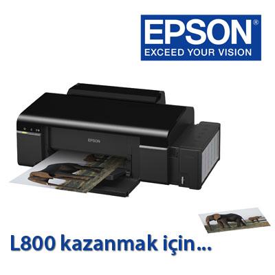 Epson'dan L800 Ödüllü Yarışma