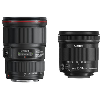 Canon'dan iki yeni geniş açı
