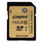 Kingston, 512GB'lık SD Kartını Duyurdu