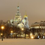 St. Petersburg, Russia in a winter