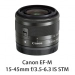 EF-M 15-45mm f3.5-6.3 IS STM_BK Slant with CAP