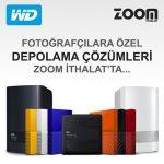 Fotoğrafçılara özel WD ürünleri Zoom İthalat'ta…