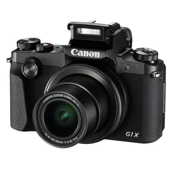 PowerShot G1 X Mark III FSL Flash Up - Canon Powershot G1 X Mark III