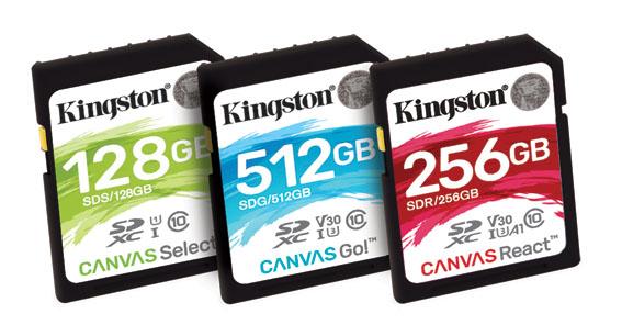 """1520927131 SD Canvas card family - Kingston Dijital """"Canvas"""" serisi Yeni Kartları Duyurdu"""