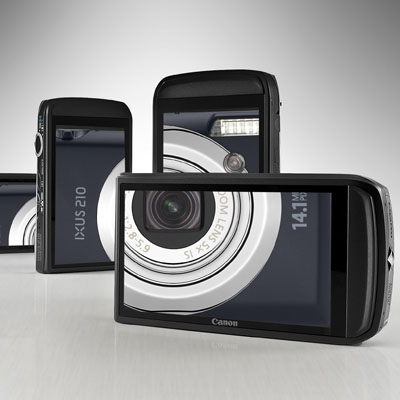 Fotoğraf makinelerini de dokunarak kullanacağız