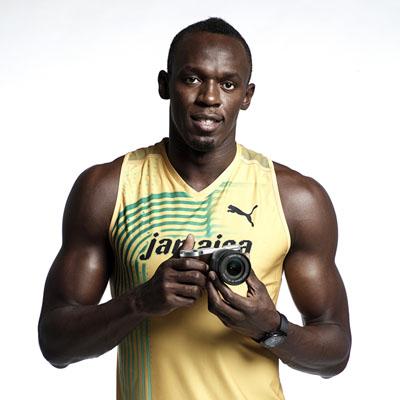 Usain Bolt with NX300-3
