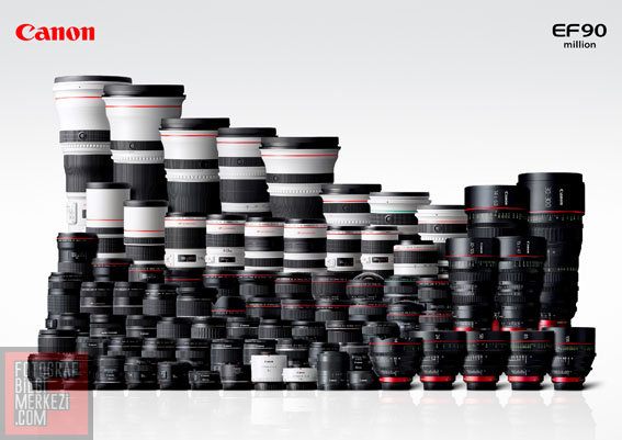 Canon 90 milyonuncu EF objektifini üretti