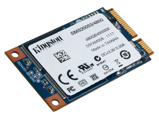 Kingston'dan 480 GB'lık mSATA SSD