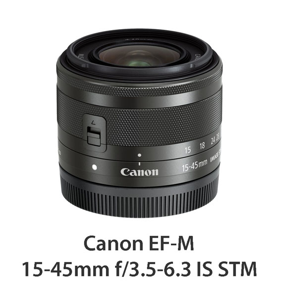 EF-M 15-45mm f3.5-6.3 IS STM_BK Slant with CAP