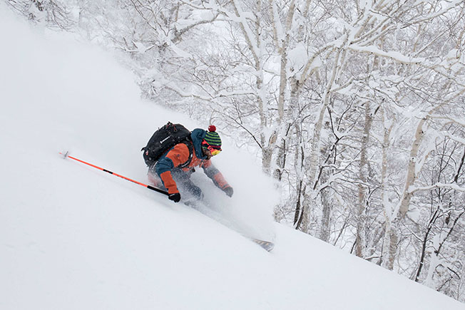 Flex Bergktold – deep in the winter wonder land of Hokkaido Japan with the Lobster Ski Club