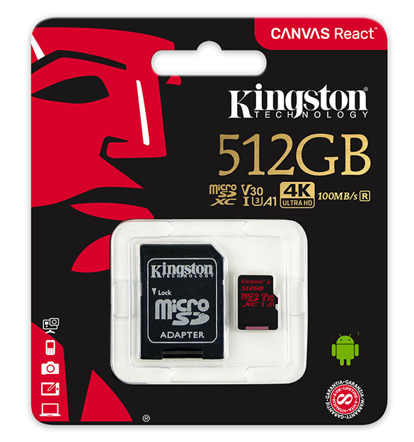 microSD Canvas React 512GB with Adapter SDCR 512GB pc hr 12 10 2018 17 55 - Kingston'un 512GB'lık mini devini Mısır'da test ettik