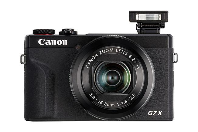 1562916428 G7 X Mark III Flash Up BK FRT - Canon'dan İki Yeni Kompakt