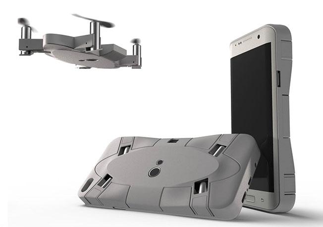 Selfly7 - Akıllı telefon kılıfına gizli drone: Selfly