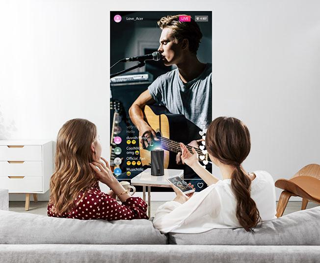 """1589438685 Acer C250i 05 - Acer Projektörler """"Evde Kalırken"""" En Keyifli Anlara Eşlik Ediyor"""