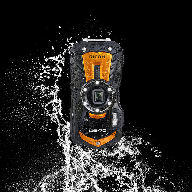 WG 70 splash dikey - Ricoh'tan Yeni Outdoor Kamera: WG-70