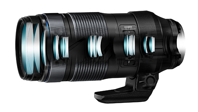 lenses ez m1040 cutmodel  product 090 master - Olympus 100-400mm f/5-6.3 IS