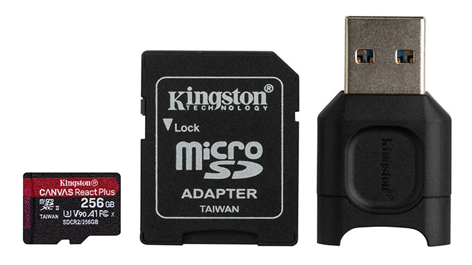 Canvas React Plus microSD 256GB mlpmr2 256gb s hr 03 02 2020 19 23 - İnceleme: Kingston Canvas React Plus Hafıza Kartı