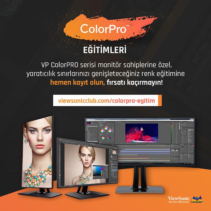 VP color pro egitim V4 - ViewSonic ColorPro Eğitimleri Başlıyor