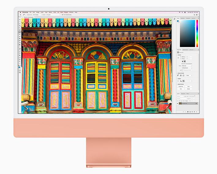 apple new imac spring21 pf orange photoshop 04202021 - iMac yeni tasarımla geliyor