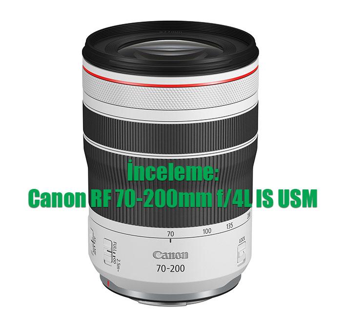 013 RF70 200mm F4 L IS USM Slant - İnceleme: Canon RF 70-200mm f/4L IS USM